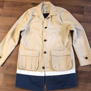 Scotch Soda Trench Coat Size L Beige Cotton